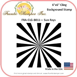 Frantic Stamper - 6x6 Background Rubber Stamp - Sun Rays