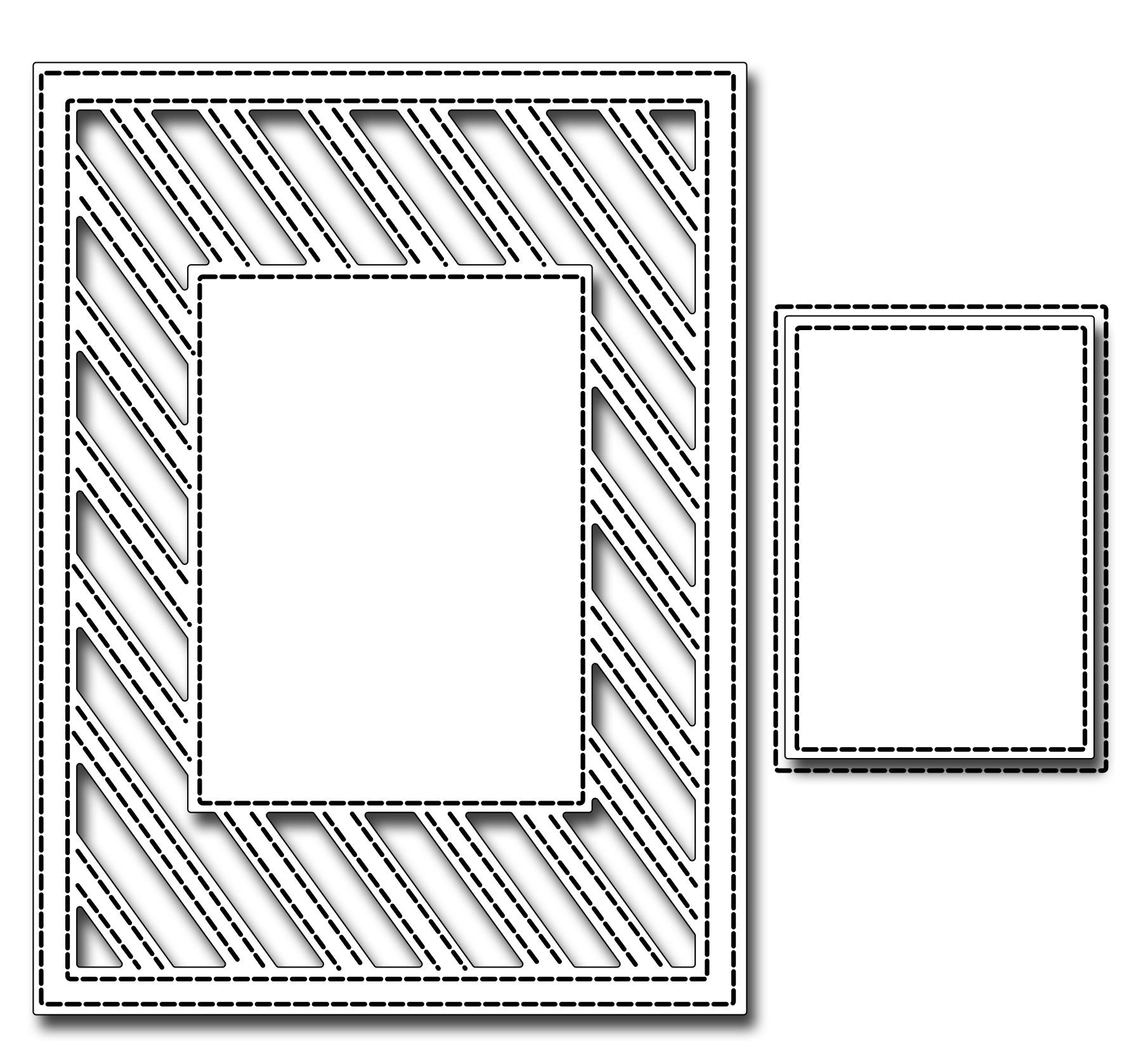 Image result for frantic stamper striped frame die