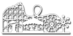 Frantic Stamper Precision Die - Amusement Park Skyline