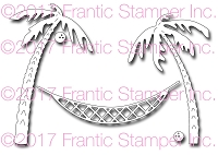 Frantic Stamper Precision Die - Hammock and Palm Trees