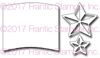 Frantic Stamper Precision Die - 3D Stars and Flag Field