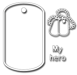 Frantic Stamper Precision Die - Dog Tags