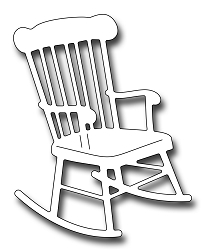 Frantic Stamper Precision Die - Rocking Chair
