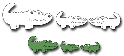 Frantic Stamper Precision Die - Mom And Baby Gators