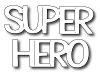 Frantic Stamper Precision Die - Super Hero Words