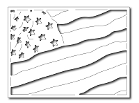 Frantic Stamper Precision Die - Waving Flag Card Panel