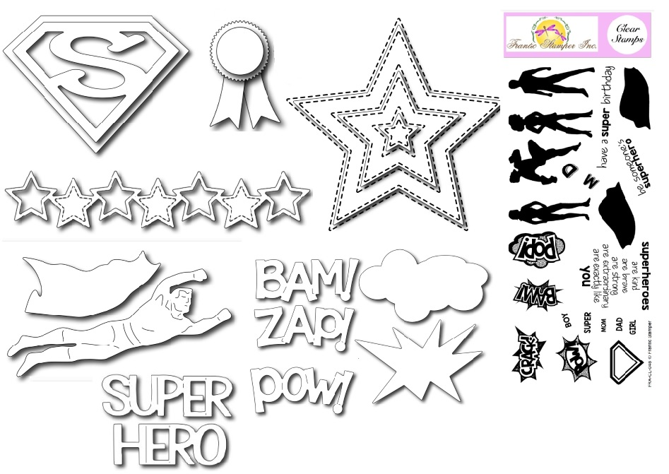 Frantic Stamper - May 15 release - You're My Super Hero