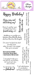 Frantic Stamper Clear Stamp Set - Sassy Birthday Sentiments