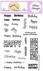Frantic Stamper Clear Stamp Set - Many Happy Birthdays