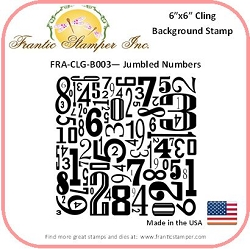 Frantic Stamper - 6x6 Background Rubber Stamp - Jumbled Numbers