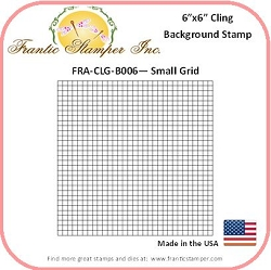 Frantic Stamper - 6x6 Background Rubber Stamp - Small Grid