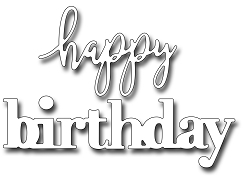 Frantic Stamper Precision Die - Jumbo mixed font happy birthday