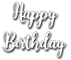 Frantic Stamper Precision Die - Brush Script Happy Birthday