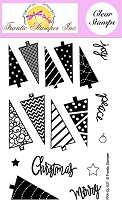Frantic Stamper Clear Stamp Set - Triangle Trees