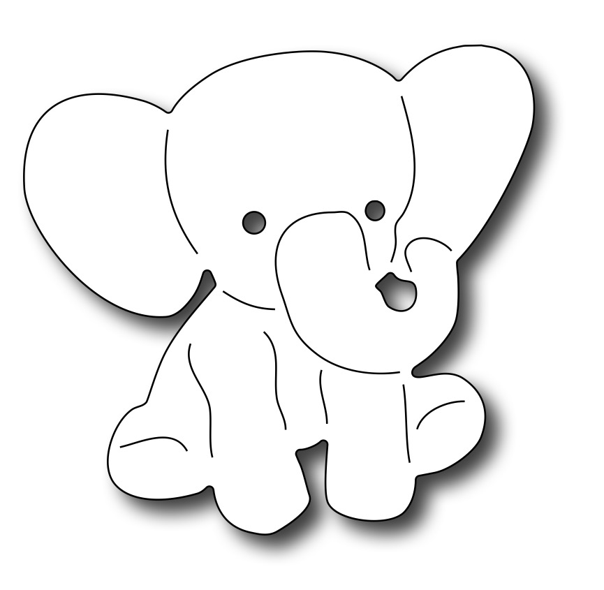 Pin Baby Elephant Outline on Pinterest