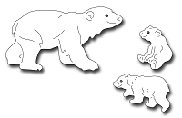 Frantic Stamper Precision Die - Polar Bear and Cubs