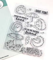 Gerda Steiner - Clear Stamps - Cheerful Hedgehogs