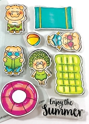 Gerda Steiner - Clear Stamps - Pool Piggies
