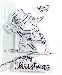 Gerda Steiner - Clear Stamps - Happy Snowman