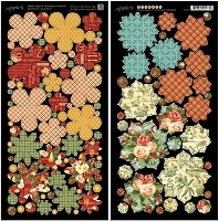 Graphic 45 - 12 Days of Christmas Collection - Die Cut Cardstock - Flowers