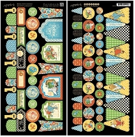 Graphic 45 - Mother Goose Collection - Die Cut Cardstock - Banners