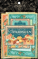 Graphic 45 - Cafe Parisian Collection - Ephemera Cards