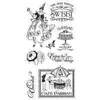 Graphic 45 - Cafe Parisian Collection - Cling Stamps 1