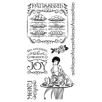 Graphic 45 - Cafe Parisian Collection - Cling Stamps 2