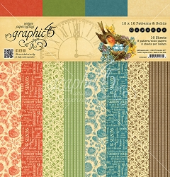 Graphic 45 - Seasons Collection - 12x12 Patterns & Solids Paper Pad