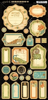Graphic 45 - Artisan Style Collection - Journaling Chipboard
