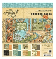 Graphic 45 - Artisan Style Collection - 8x8 Paper Pad