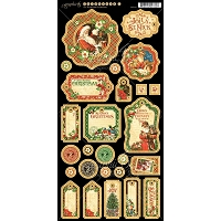 Graphic 45 - St Nicholas Collection - Journaling Chipboard