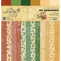 Graphic 45 - St Nicholas Collection - 12x12 Patterns & Solids Paper Pad
