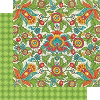 Graphic 45 - Bohemian Bazaar Collection - 12x12 Double Sided Paper - Vivid Splendor