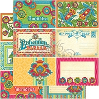 Graphic 45 - Bohemian Bazaar Collection - 12x12 Double Sided Paper - Lap of Luxury