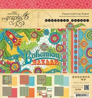 Graphic 45 - Bohemian Bazaar Collection - 8X8 Paper Pad