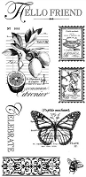 Graphic 45 -Botanical Tea Collection - Cling Stamp #3