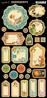 Graphic 45 - Children's Hour Collection - Journaling Chipboard