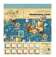 Graphic 45 - Children's Hour Collection - 8x8 Calendar Pad