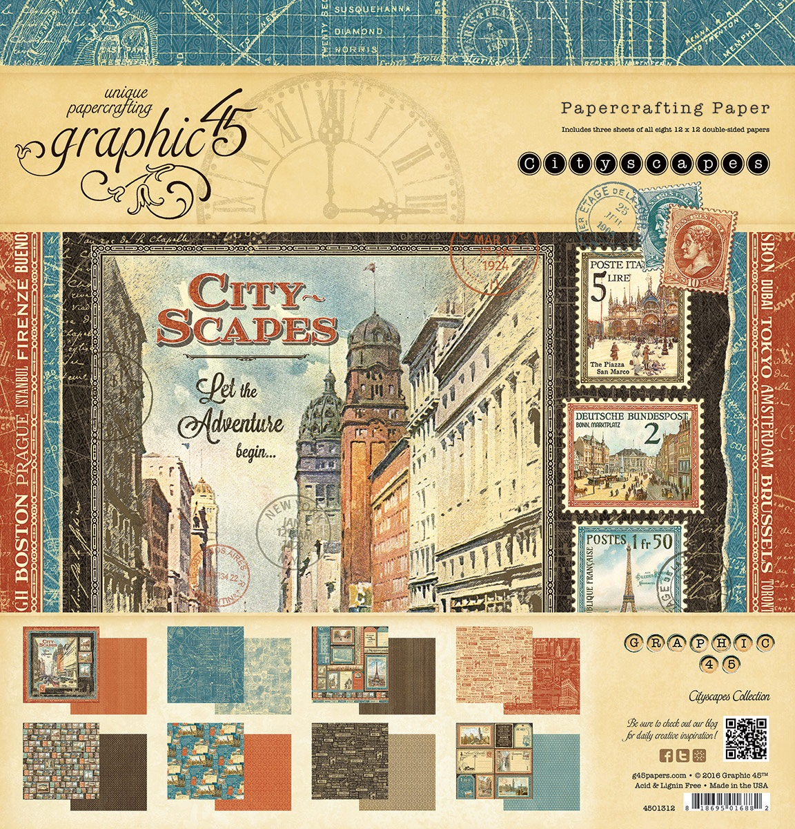 Scrapbook paper collections - Cityscape Collection