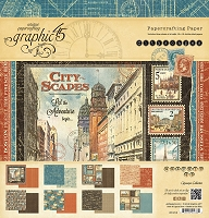 Graphic 45 - Cityscapes Collection - 12x12 Paper Pad