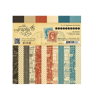 Graphic 45 - Cityscapes Collection - 6x6 Paper Pad Patterns & Solids