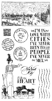 Graphic 45 - Cityscapes Collection - Cling Stamps 1
