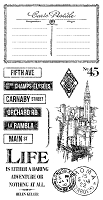 Graphic 45 - Cityscapes Collection - Cling Stamps 3