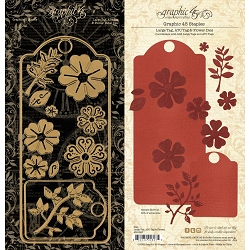 Graphic 45 - Staples cutting die - Large Tag, ATC Tag & Flowers