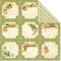 Graphic 45 - Secret Garden Collection - 12X12 Double Sided Paper - Meadow Lark