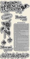 Graphic 45 - French Country Collection - Cling Stamp 1