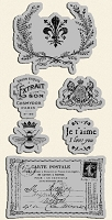 Graphic 45 - French Country Collection - Cling Stamp 3
