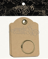 Graphic 45 Staples - Artist Trading Tags - Kraft