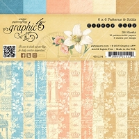 Graphic 45 - Gilded Lily Collection - 6x6 Paper Pad Patterns and Solids